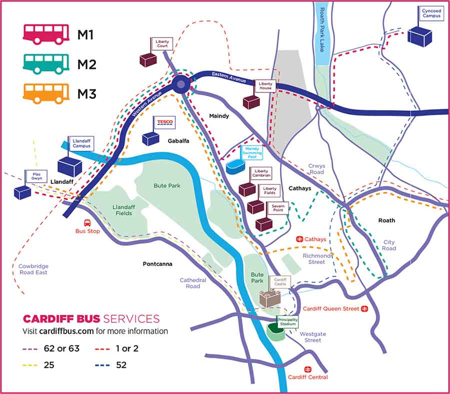 Cardiff Bus Map Met Rider Home