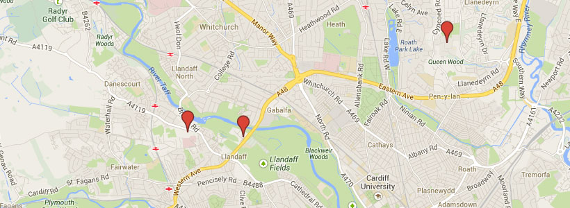 Cardiff University Map Campuses and Locations Campuses and Locations Cardiff University Map