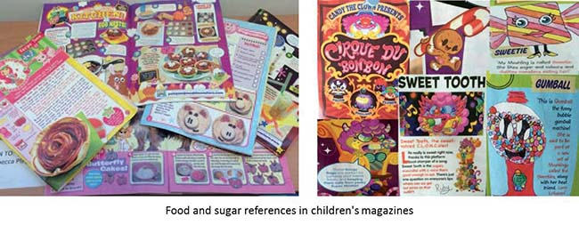 Food and sugar references in childrens magazines