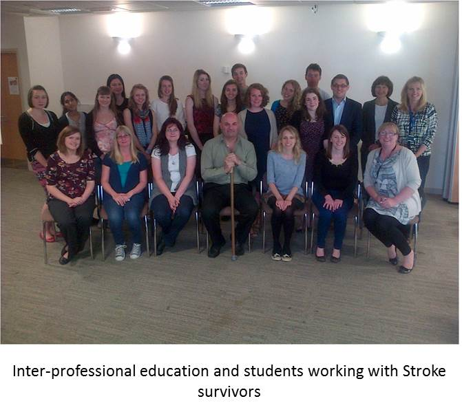 Interprofessional students working with stroke survivors