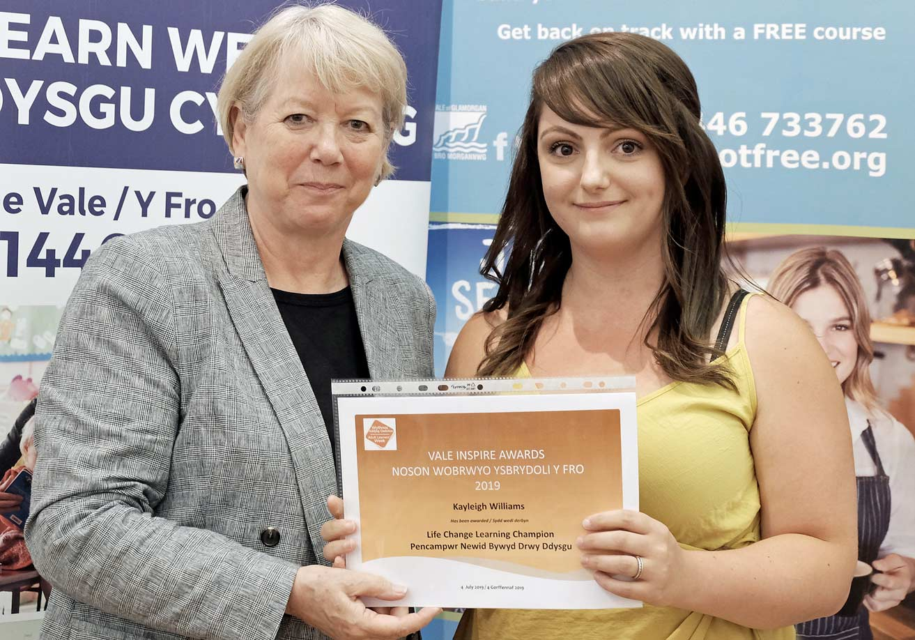 Cardiff Met learners honoured at vale awards